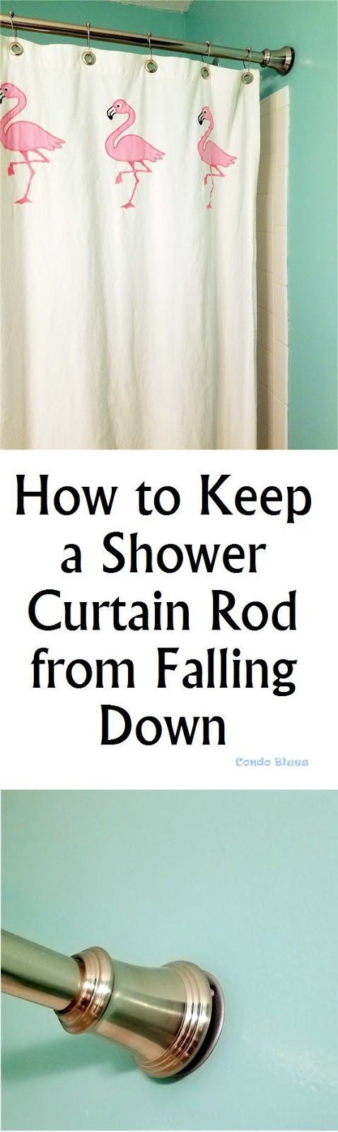 How To Keep A Shower Curtain Rod From Falling Shower Curtain