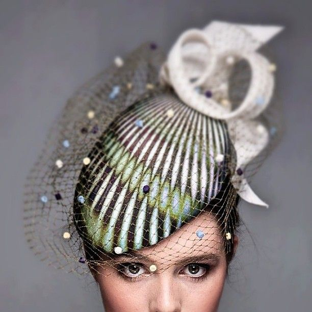 'Soho' beret. Digital print headpiece | Louise MacDonald, Melbourne | Fashion Millinery, Spring 2013