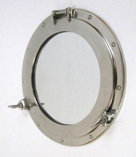 brass decor mirrors solid mirror wall ship s nautical porthole