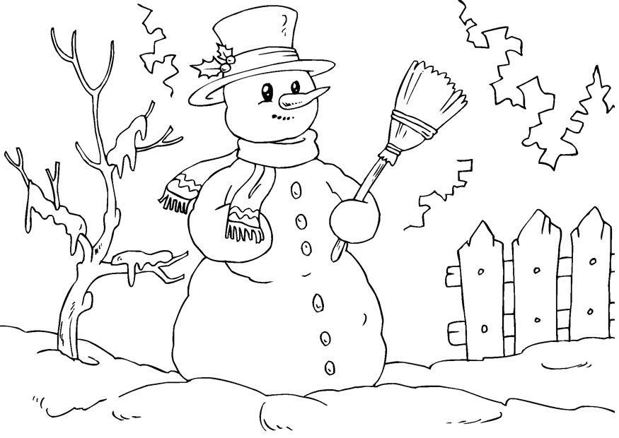 Free Printable Snowman Coloring Pages For Kids Snowman