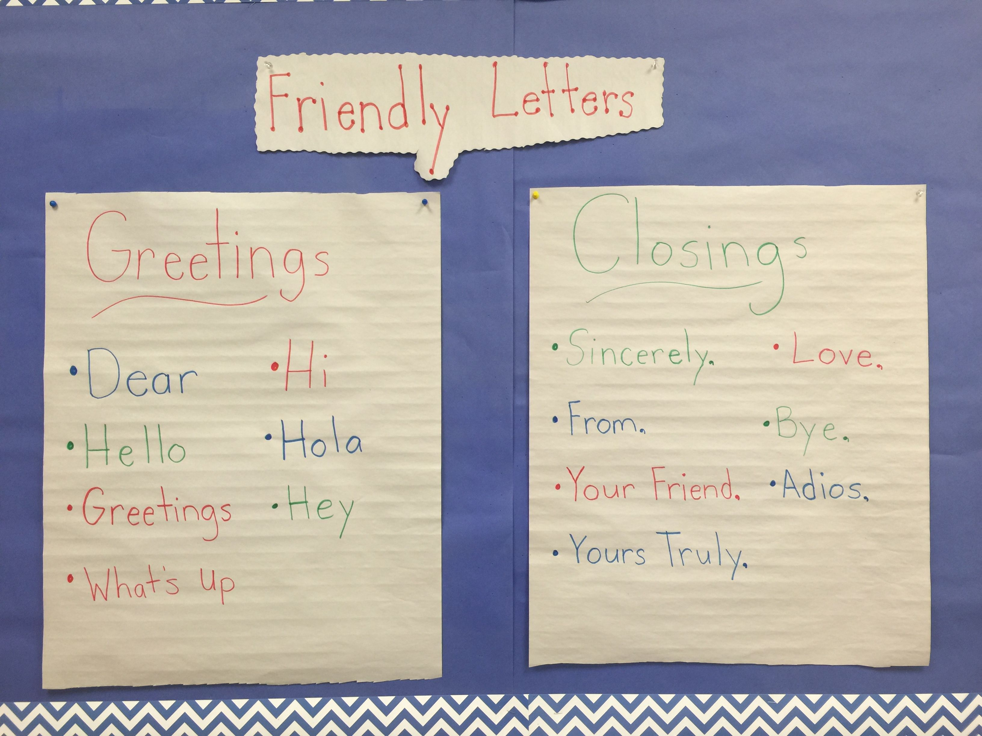 Friendly Letters Unit Greeting Closing  My Classroom