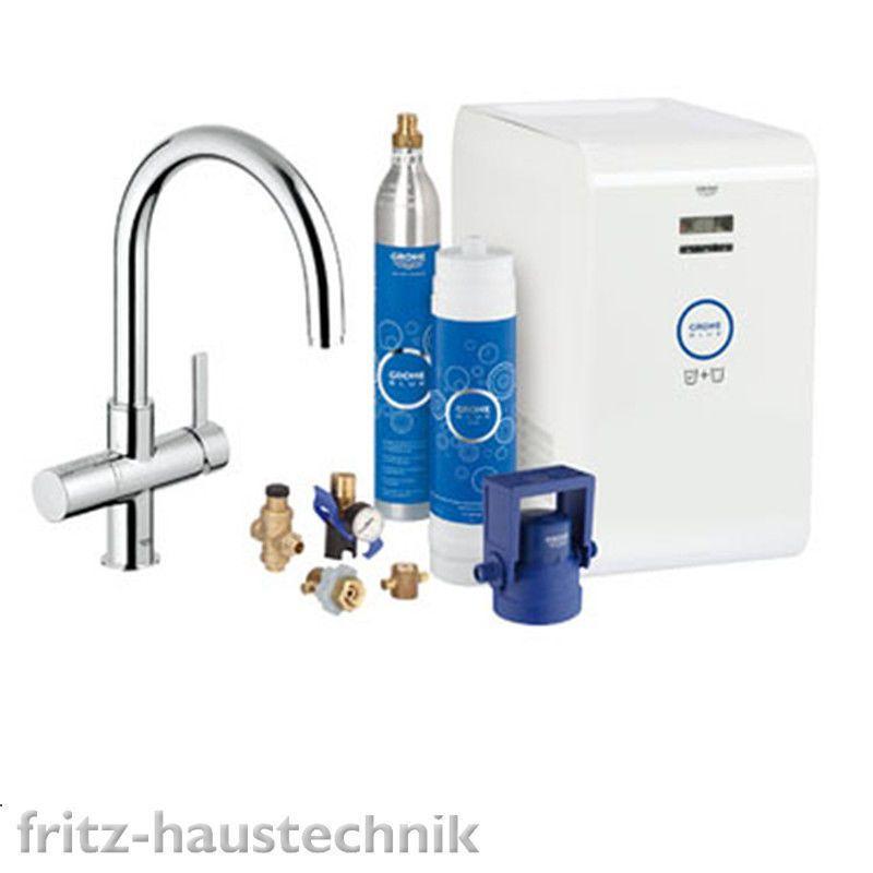 details zu grohe blue k chenarmatur sp ltischarmatur 31323001 starter kit tafelwasser grohe. Black Bedroom Furniture Sets. Home Design Ideas
