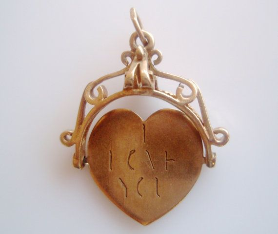 Love Spinner Vintage Style Heart Charm Pendant Necklace New Romantic