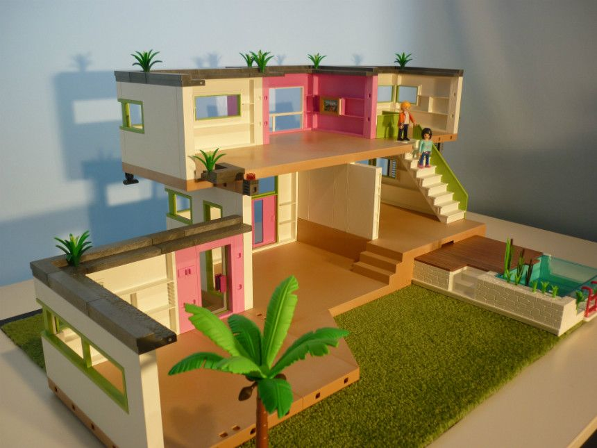 Luxury modern Playmobil villa | My Playmobil World | Modern ...