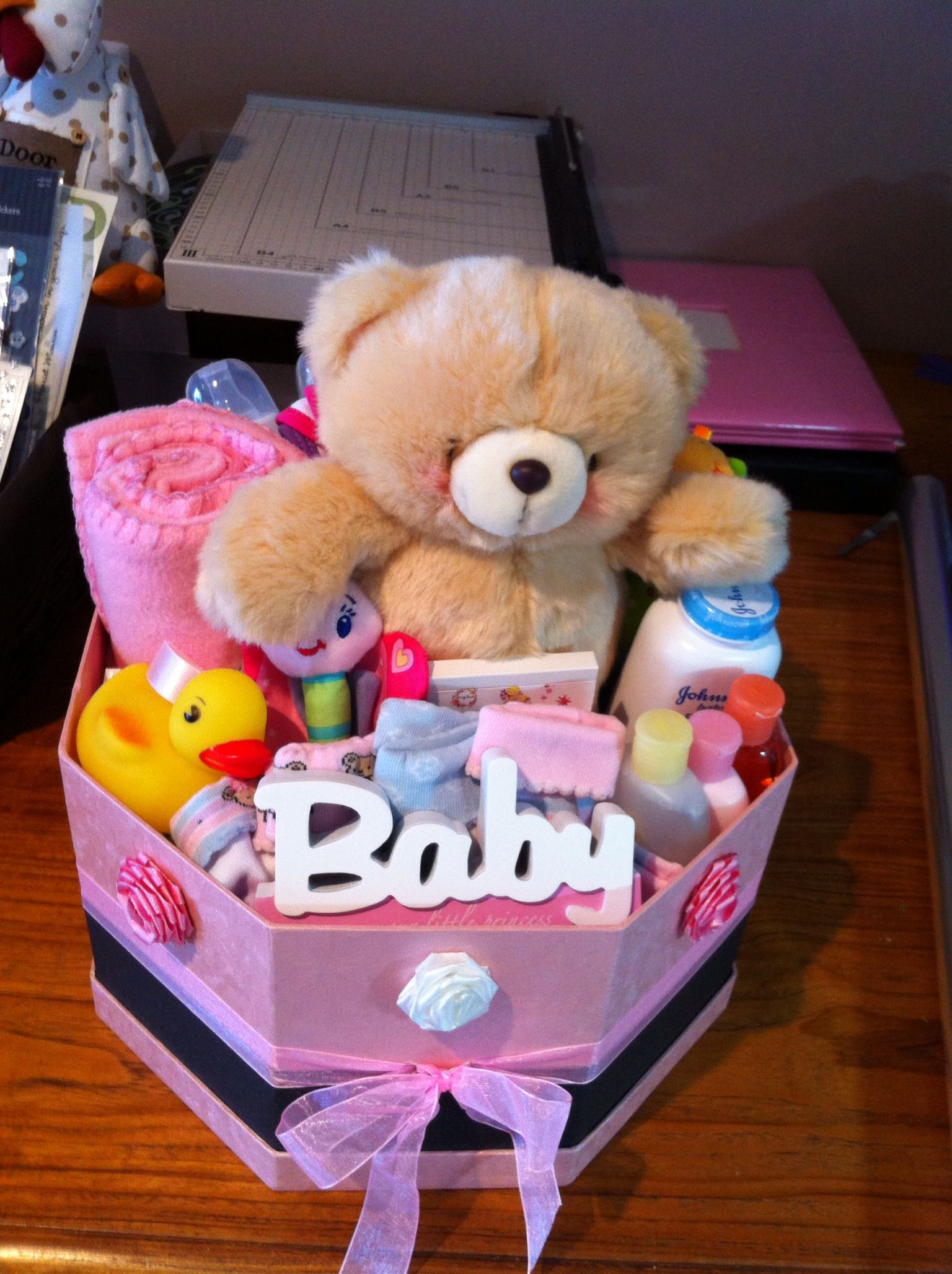 Baby gift basket without wrapping click my name to see it