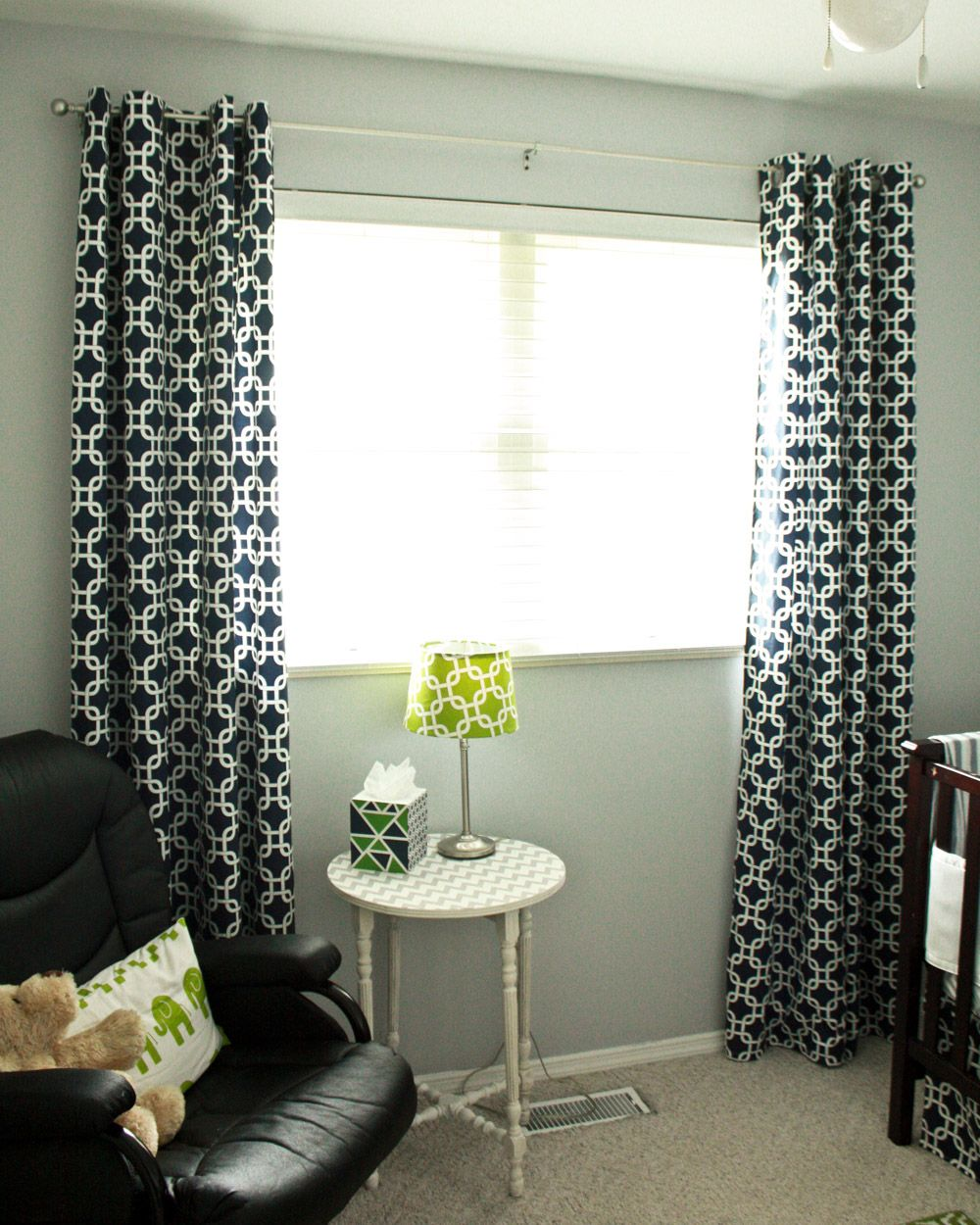 DIY Lined Grommet Top Curtain Panels
