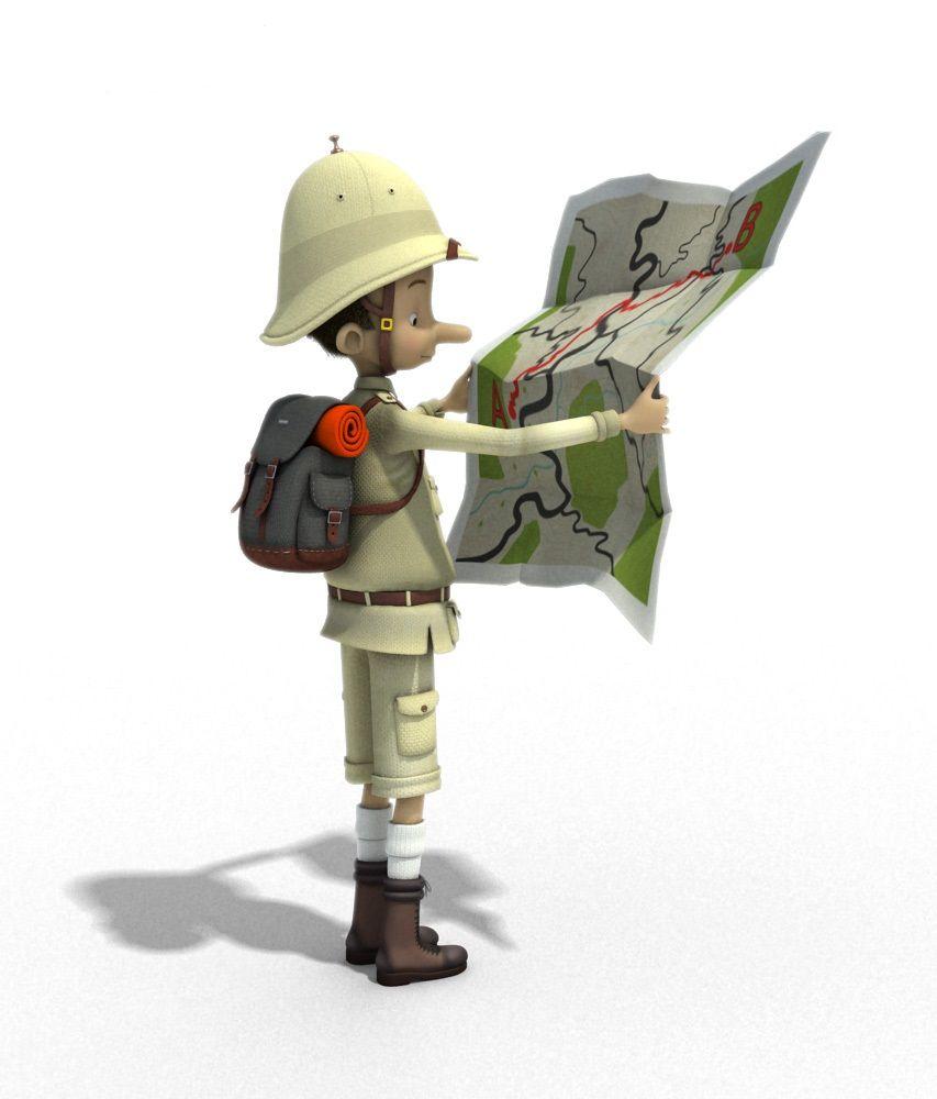 Where to go next? Lloyds TSB Explorer. #advertising #3Dcharacters