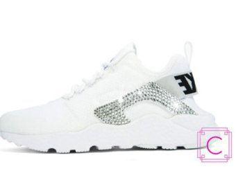 123bd3b75e9f Women s Nike Air Huarache w SWAROVSKI - Nike Swarovski - Custom Shoes - Crystal  Nikes - Bling Nike Shoes - Sparkle Sneakers - Workout