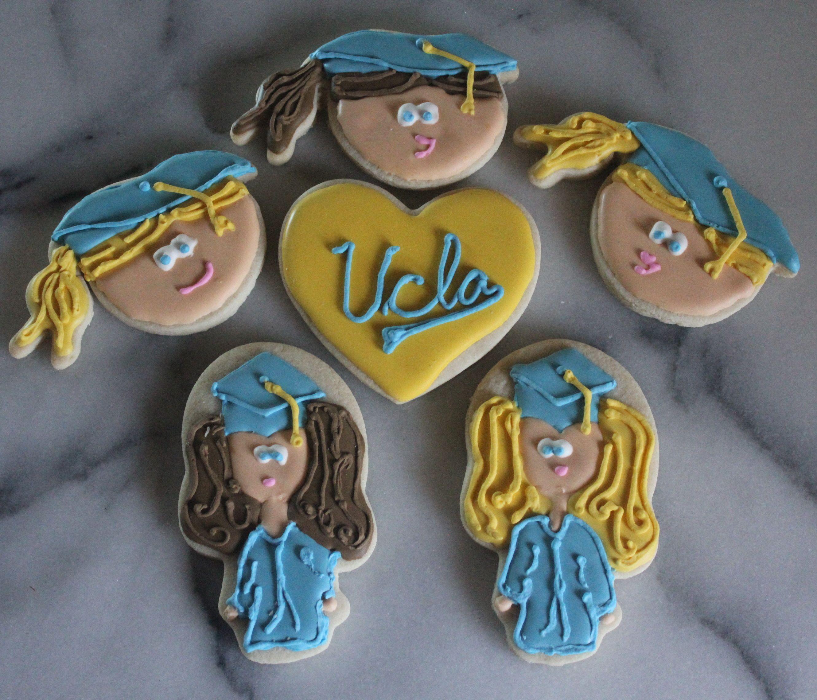 I Love L.A. UCLA Graduation Cookies Graduation cookies