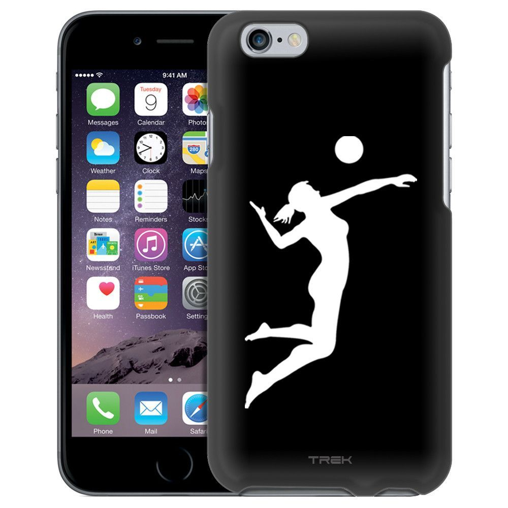 Apple Iphone 6 Silhouette Volleyball Woman On Black Case Iphone Apple Iphone 6 Iphone 6