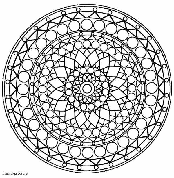 Geometric Kaleidoscope Coloring Pages Geometric Kaleidoscope