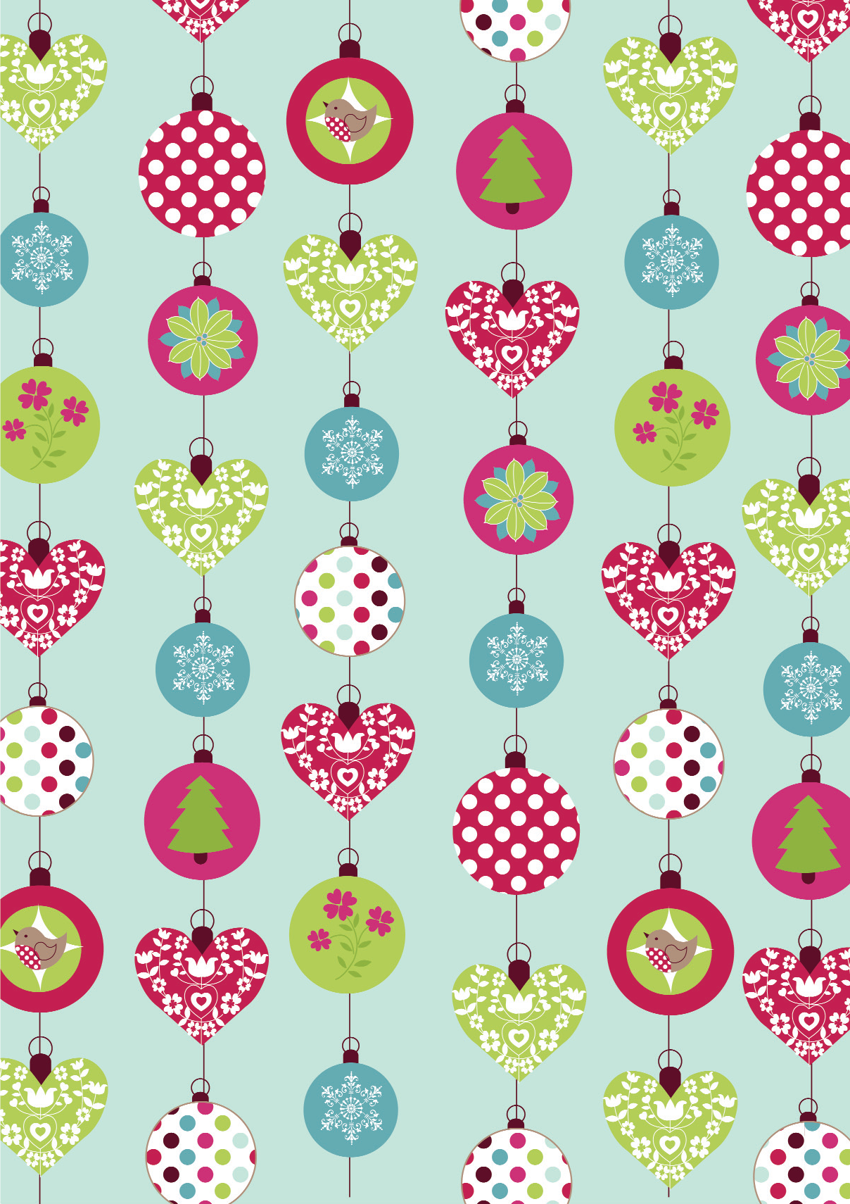 cartoon christmas animals vector vector graphic resources christmas baubles paper in fresh and bright colourways