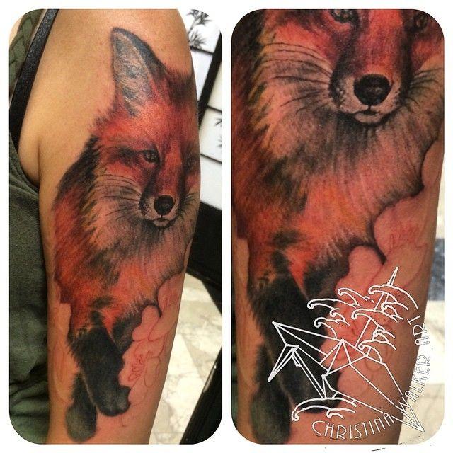 Fox Half Sleeve Tattoo Animal Tattoos Bamboo Tattoo Fox Tattoo