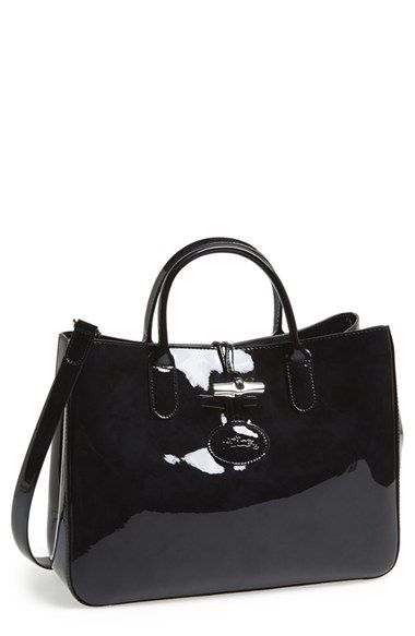 Patent leather handbags, Bags, Leather tote