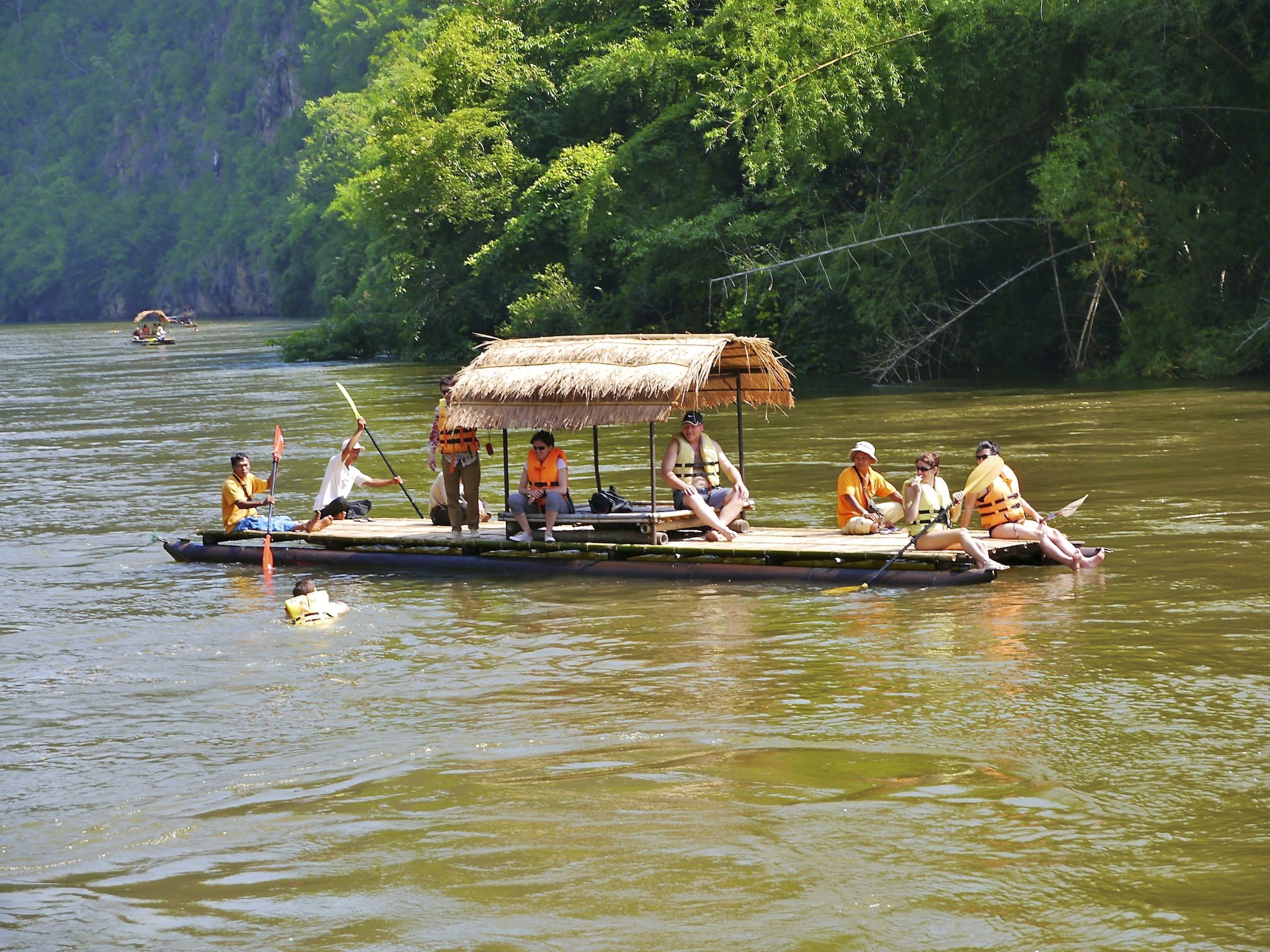 Experience The Bamboo Rafting, The Raft Is Totally Hand Made And