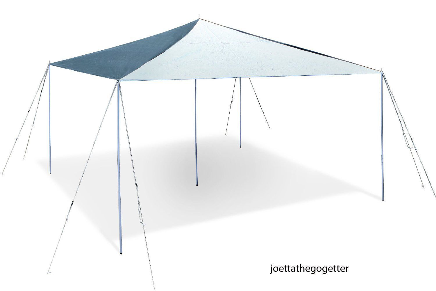 Made Of Heavy Duty Fiber Reinforced Waterproof Polyethylene Corners And Center Are Double Reinforced Rope Reinforc With Images Canopy Steel Canopy Canopy Shelter