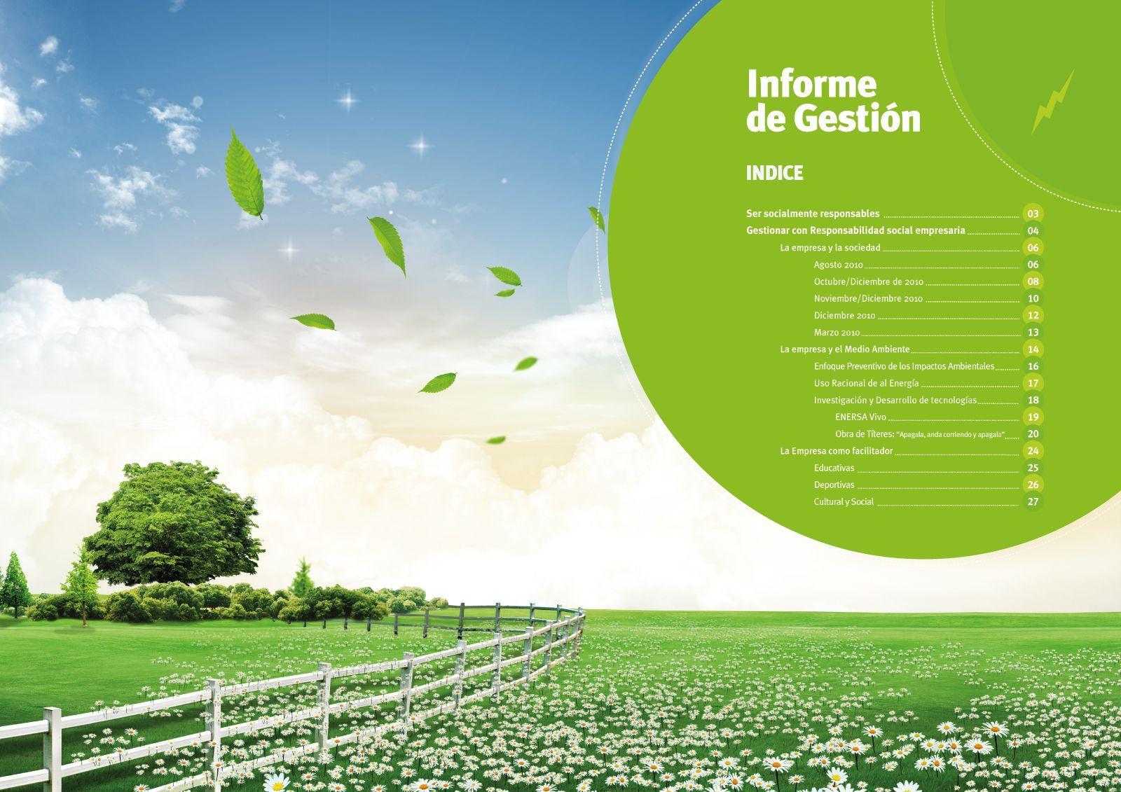 Cliente: ENERSA Trabajo: diseño y diagramación de Informe de Gestión