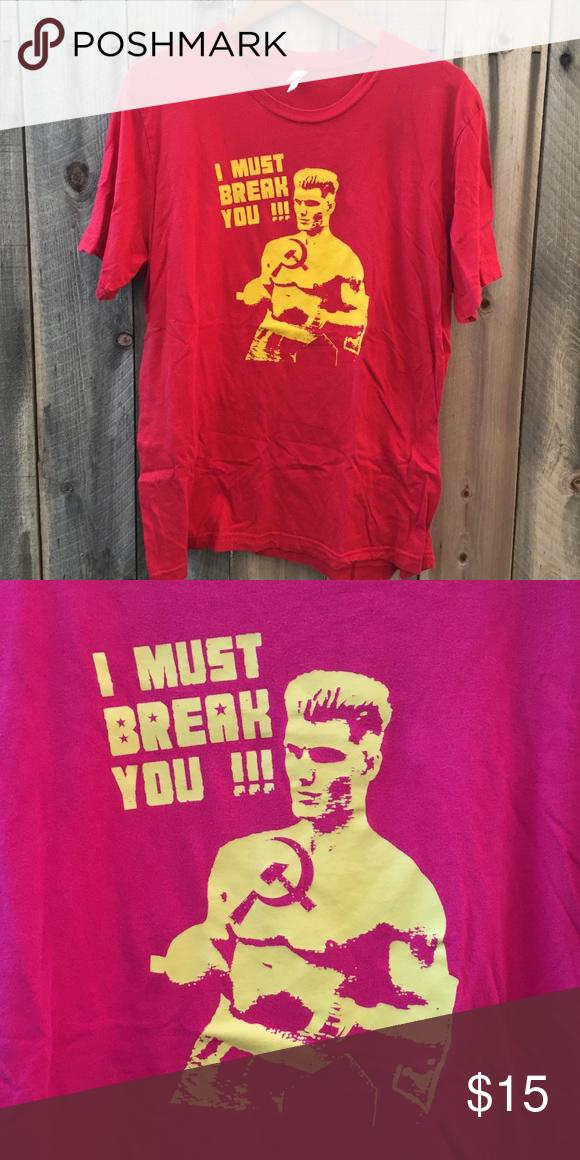 "Rocky IV Movie T-Shirt ""I must break you "" 🎥 Rocky IV"