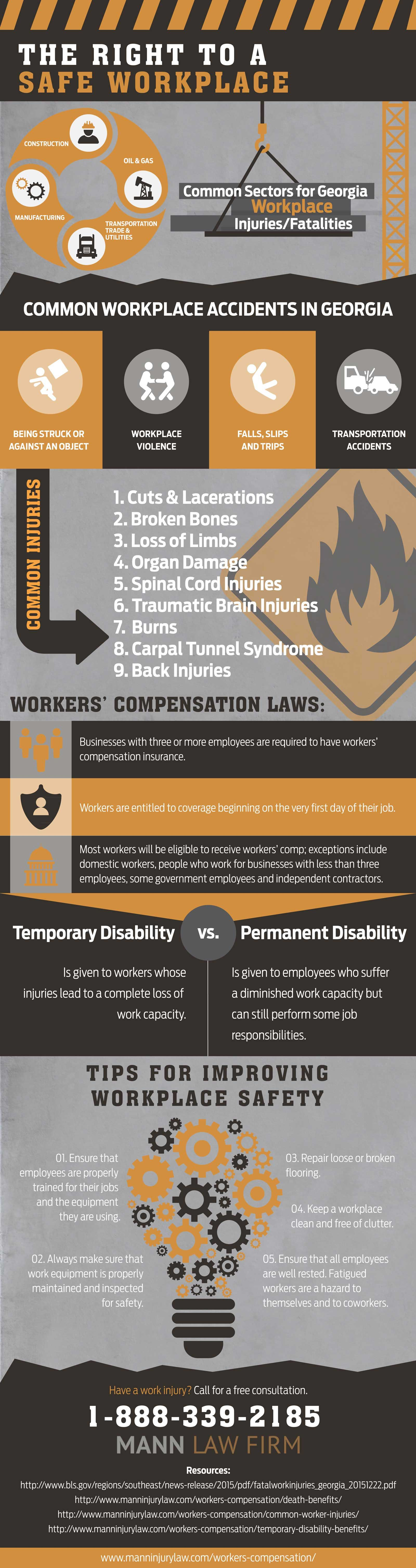 The Right To A Safe Workplace Infographic Workplace