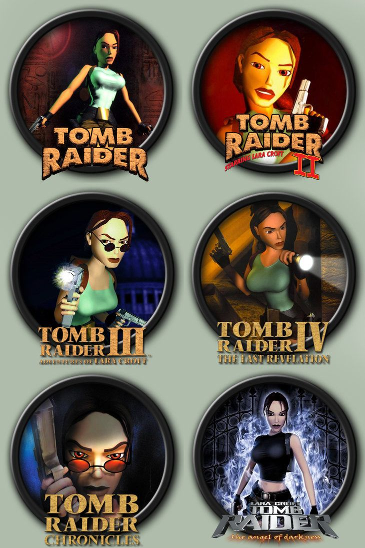 Tomb Raider 1-6 Icons by kodiak-caine