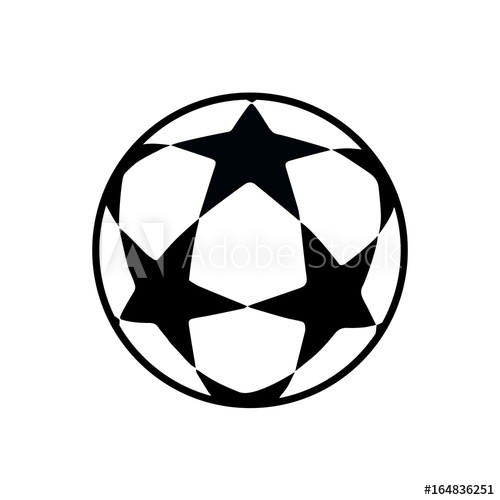 Soccer Ball Icon Isolated Football Games Symbol Soccer Ball Logo For Brochure Flyer Banner Graphic Design Soccer Ball Stars In 2020 Soccer Ball Soccer Cup Tattoo