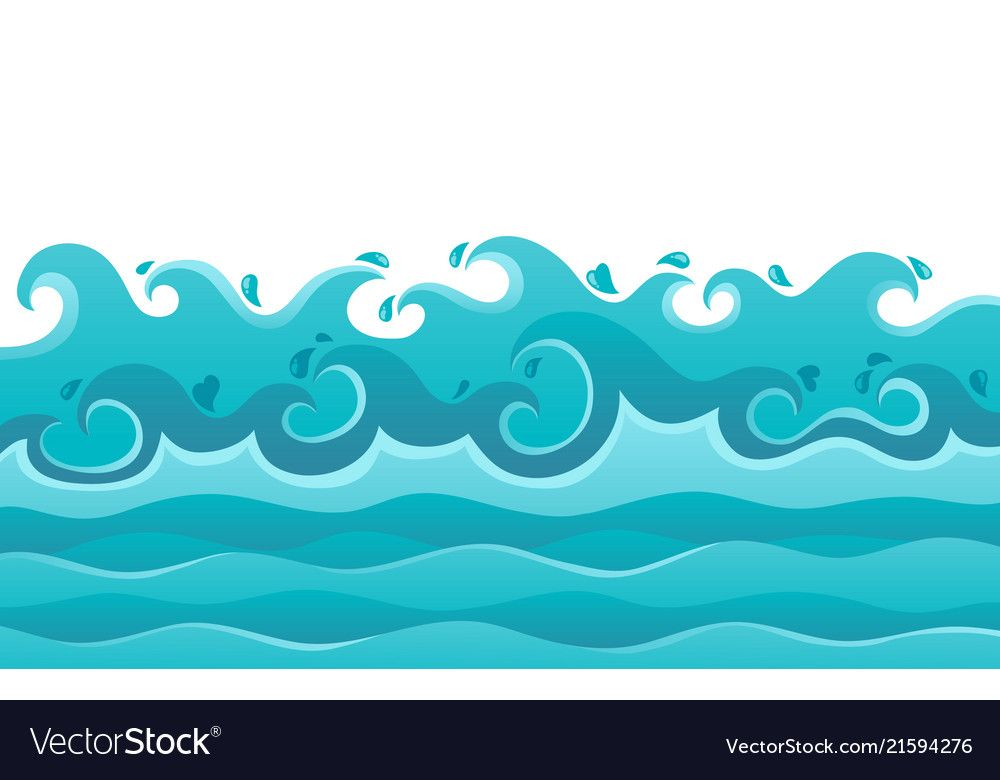 Waves Theme Image 6 Vector Image On Vectorstock Festa De Aniversario Moana Desenho De Papel Arabesco Floral