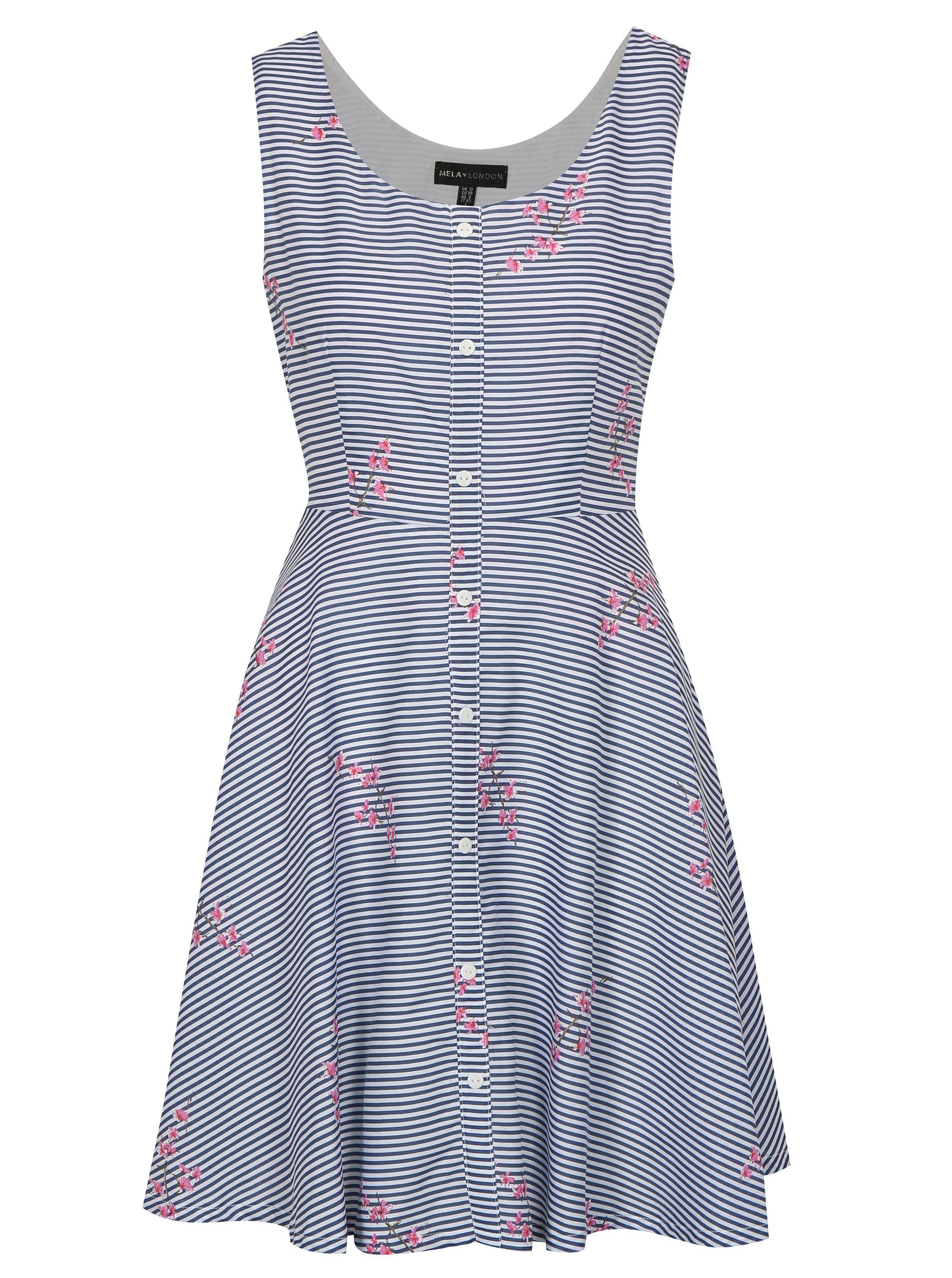 Typ  áčkové vzorované šaty s textilním 083a986b849