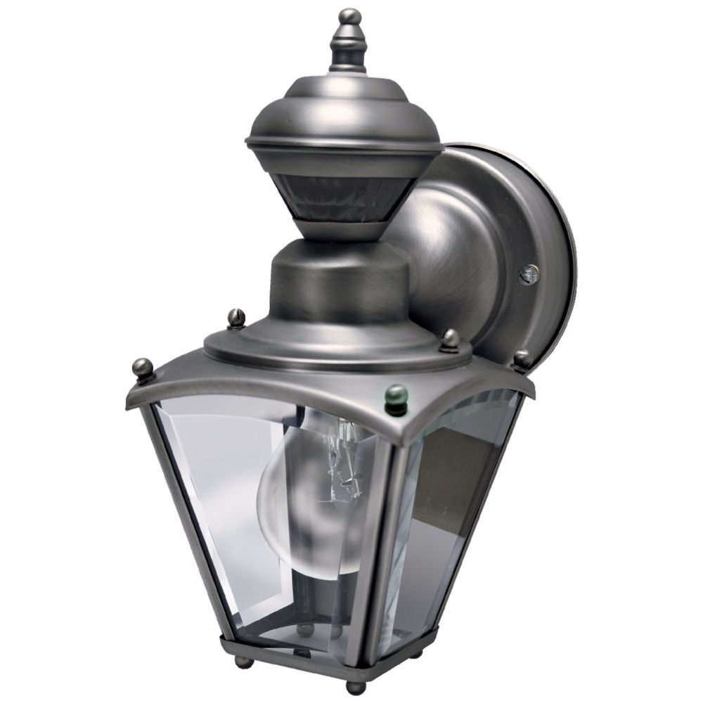 Mini coach silver pewter outdoor wall light style h