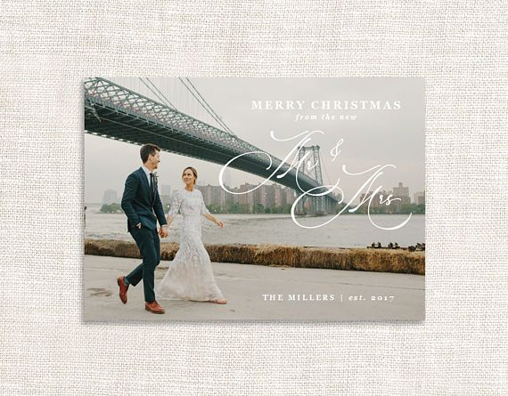 Newlywed Christmas card template, Holiday card ideas, Greeting - microsoft word greeting card template