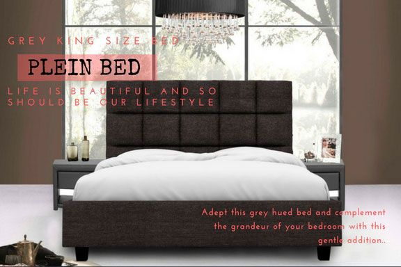 This Diwali Adept Grey Hued Bed, What Size Is A Double Bed Nz