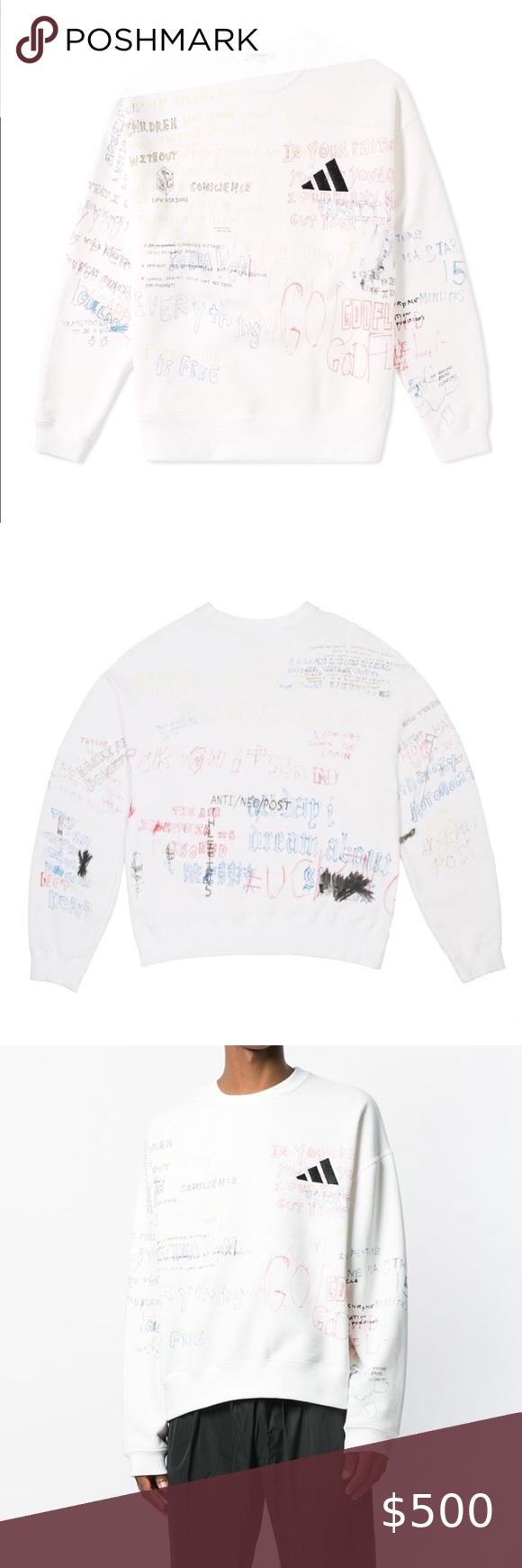 Yeezy Season 5 Scribble Handwriting Adidas Crew Yeezy Season Yeezy Shirt Yeezy [ 1740 x 580 Pixel ]