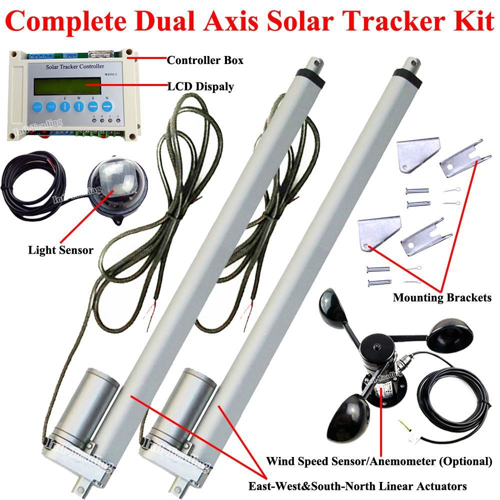 Complete Dual Axis Solar Tracker -Solar Panel Tracking