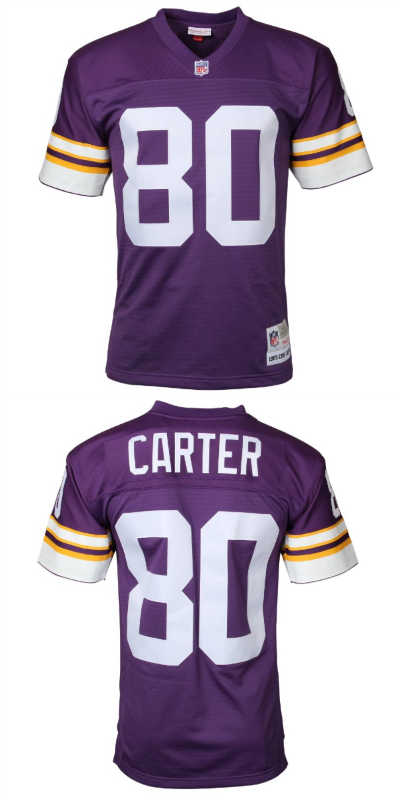 online retailer bc222 7ae99 UP TO 70% OFF. Cris Carter Minnesota Vikings Mitchell & Ness ...