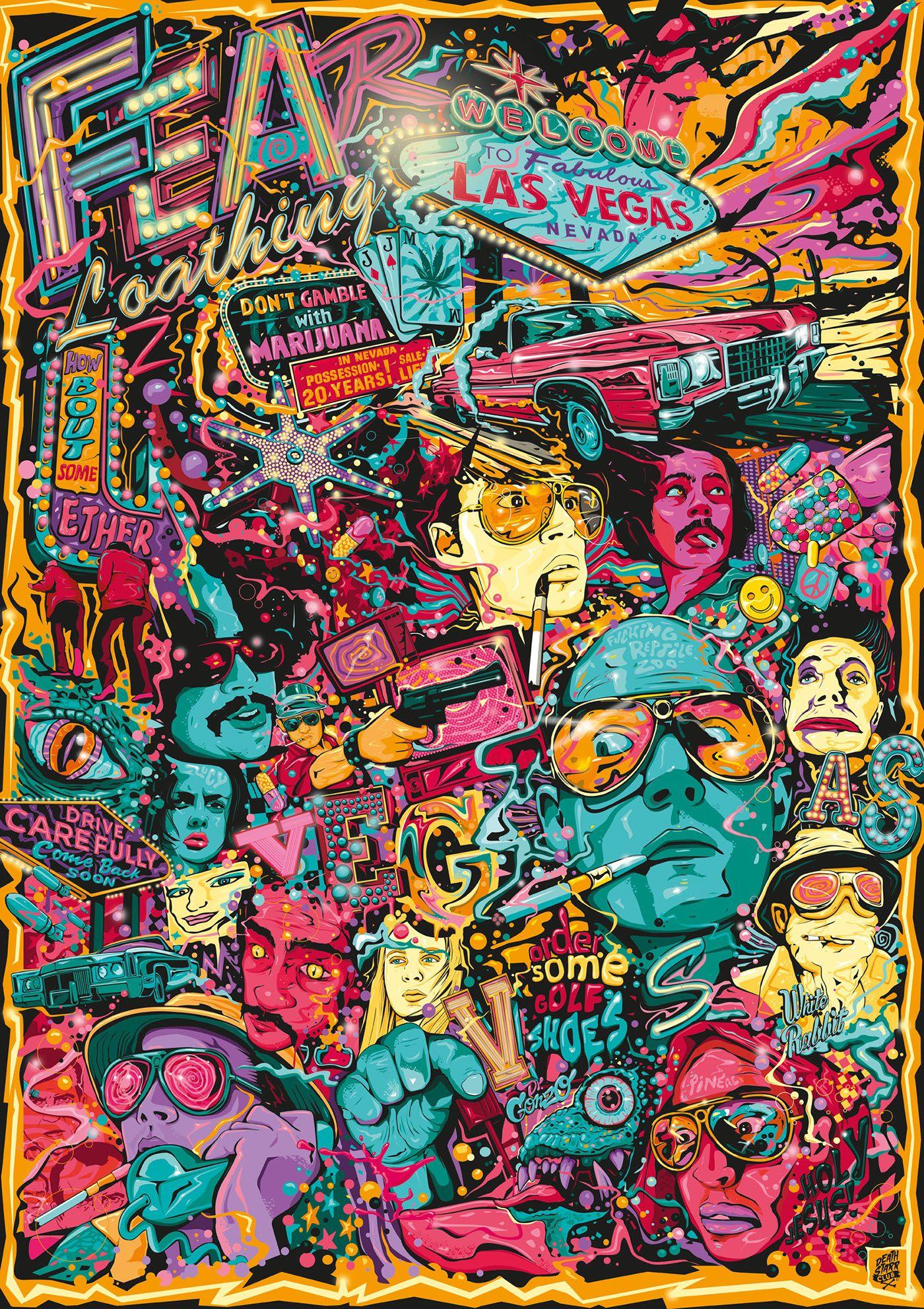 Shaun Dead Zombieland Fear Loathing In Las Vegas Wallpaper Tiled
