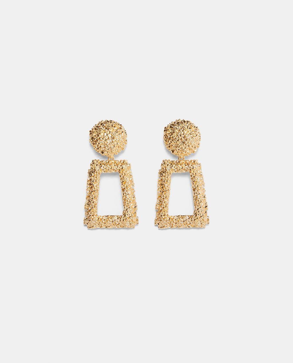 b88757162 Texture earrings in 2019 | Zara F/W 18 | Earrings, Zara gold ...