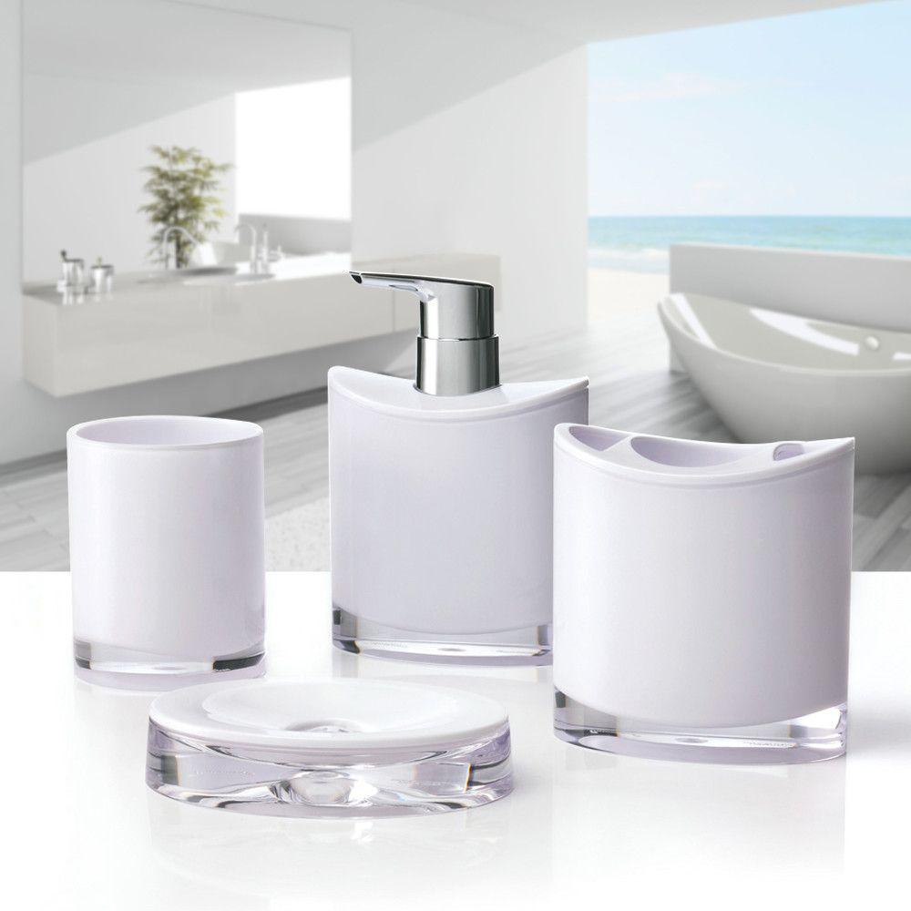Optic 4-Piece Bathroom Accessory Set | Bathroom accessories sets ...