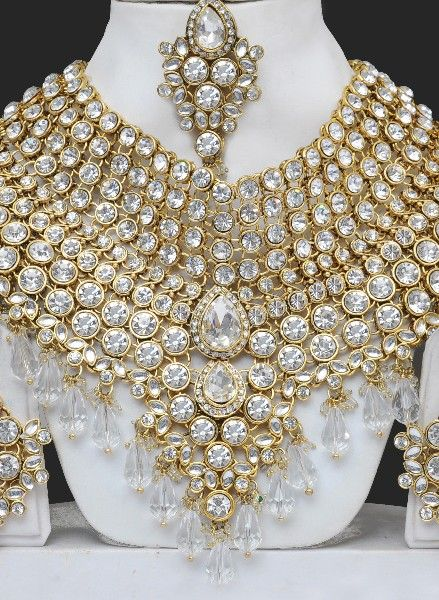 artificial heavy bridal costume jewellery sets