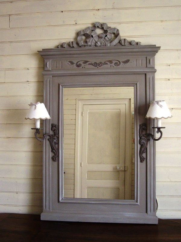 grand miroir noeud appliques DIY Pinterest Lights - peindre une armoire en bois