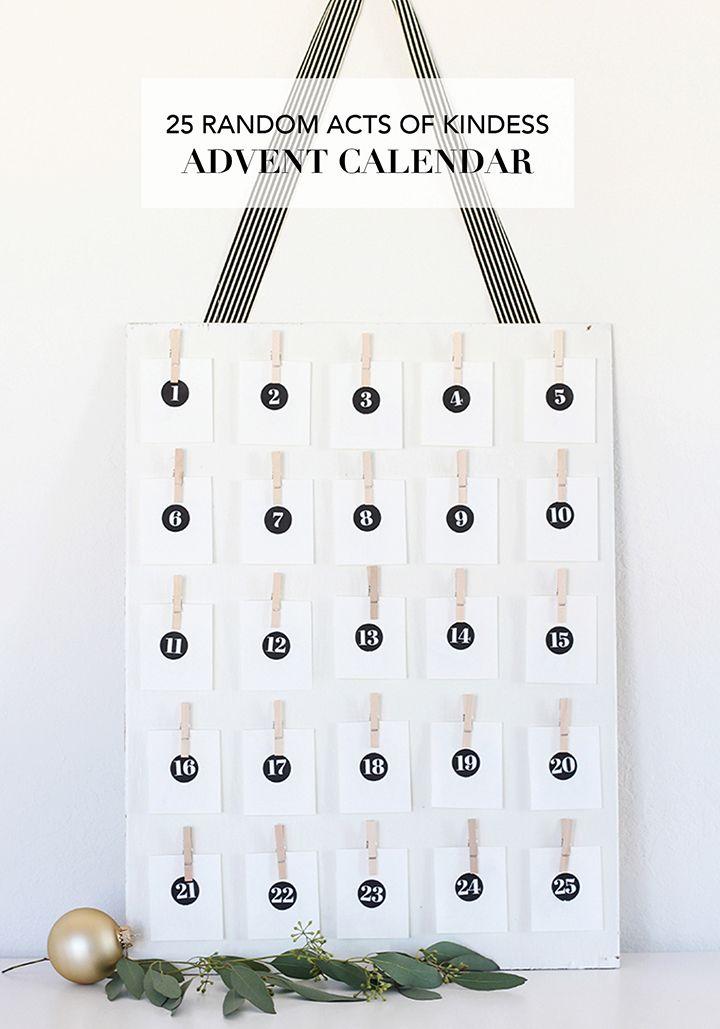 25 Random Acts of Kindness DIY Advent Calendar Advent calendars