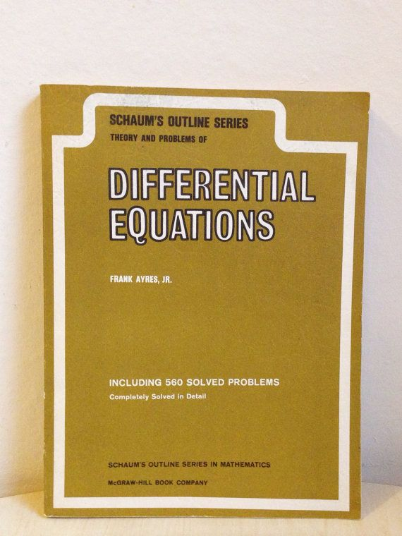 Vintage 1950s Math Textbook, Differential Equations, Mcgraw
