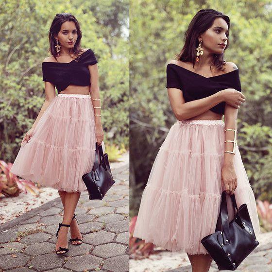 22f606d27 longer shirt Alana Ruas - Chic Wish Amore Tulle Skirt, Amandhí Bracelet,  Eugenia Gamero Bag, Milanoo Top - Amore