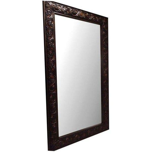 Large Wood Framed Leaner Mirror (800 CAD) ❤ liked on Polyvore ...