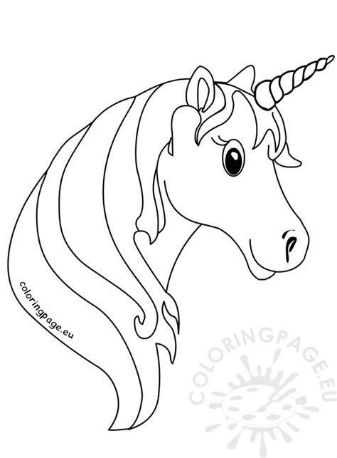 Intrepid image in printable unicorn template