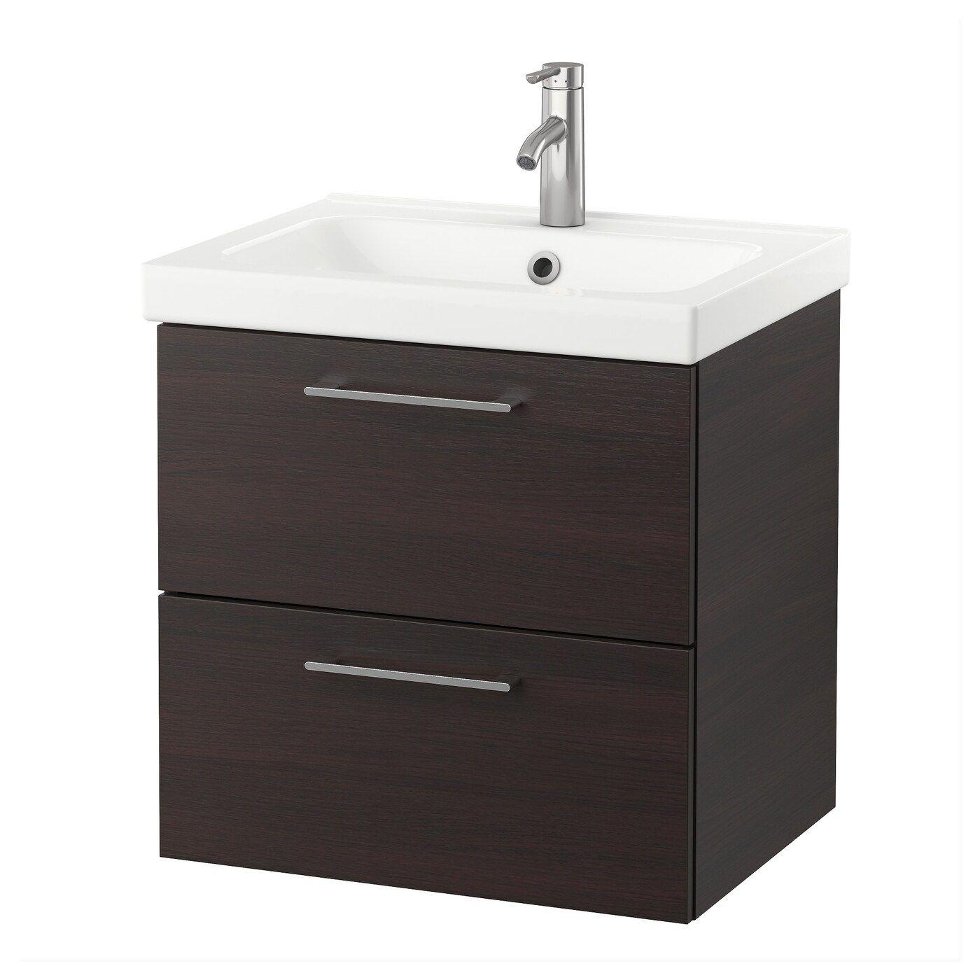 Godmorgon Odensvik Waschbeckenschrank 2 Schubl Schwarzbraun Waschbeckenschrank Tolle Badezimmer Und Ikea Godmorgon