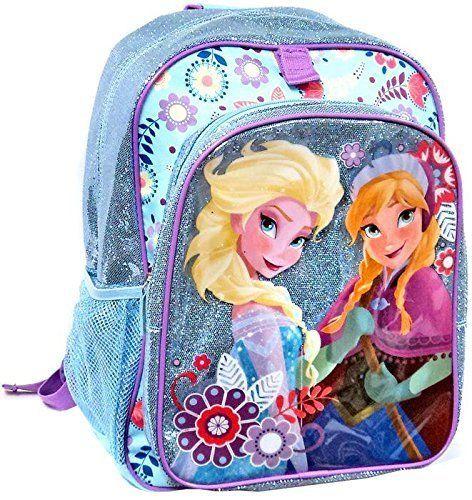 210237cf5df7 Disney Store Frozen Elsa Anna Glitter Sparkle Backpack School Bag ...