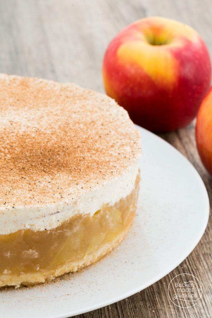 Apfel Sahne Torte Mit Pudding Rezept Backen Kuchen Desserts