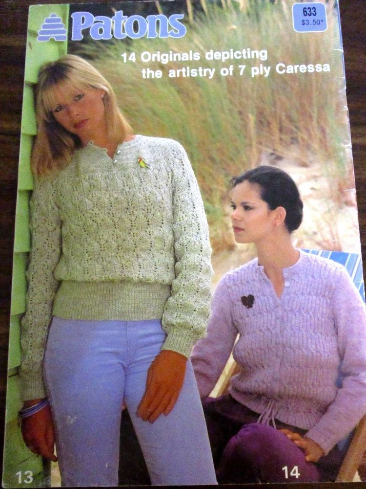 377da6492 Patons ladies knitwear in 7 ply Caressa knitting pattern no. 633 vintage   Patons