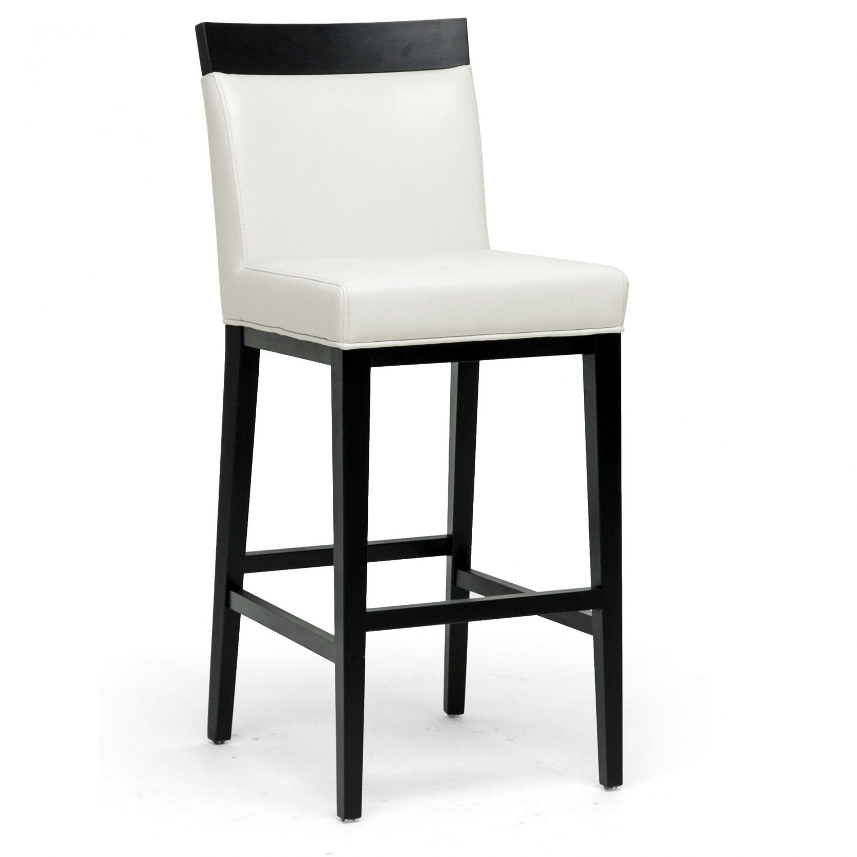 Unique White Leather Bar Stools with Back