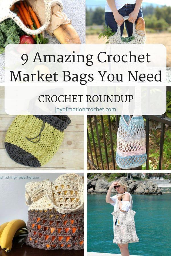 9 Amazing Crochet Market Bags You Need - Crochet Roundup   Crochet ...
