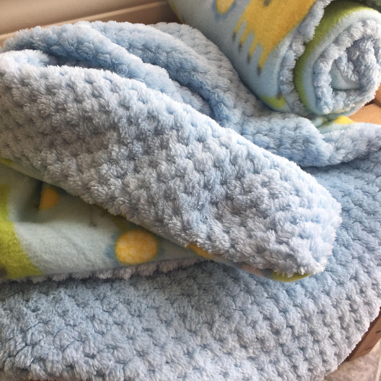 Giraffe and zebra fleece lovey blanket baby boy blanket by